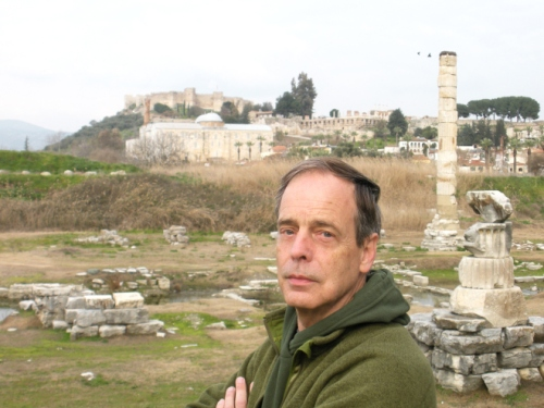 Jay Amberg at the Temple of Artemis. Photograph by Mark Henry Larson.
